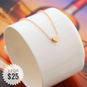 Gold Dainty Heart Necklace Choker A22